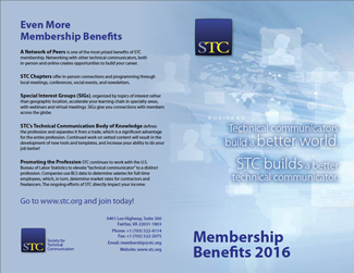 Page 1 of the 2016 STC membership benefits flyer