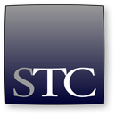 small STC logo grayscale square