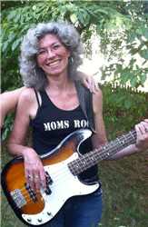 photo of Viqui Dill wearing Moms Rock t-shirt