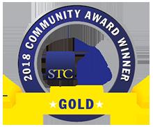 Transparent graphic of STC CAA 2018 Gold Award ribbon