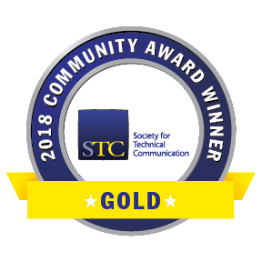 Transparent graphic of STC CAA 2018 Gold Award