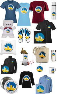 Collection of sample logo items for sale